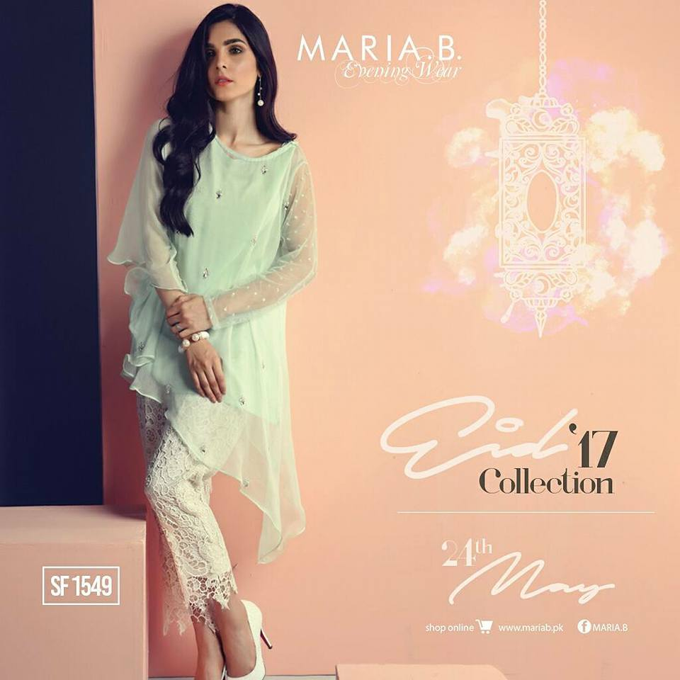 Maria B Light Pink Outfit for Eid