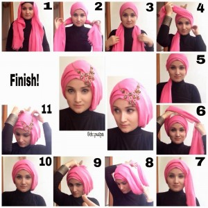 Eid Turban Hijab Styles Step by Step Tutorials 2017