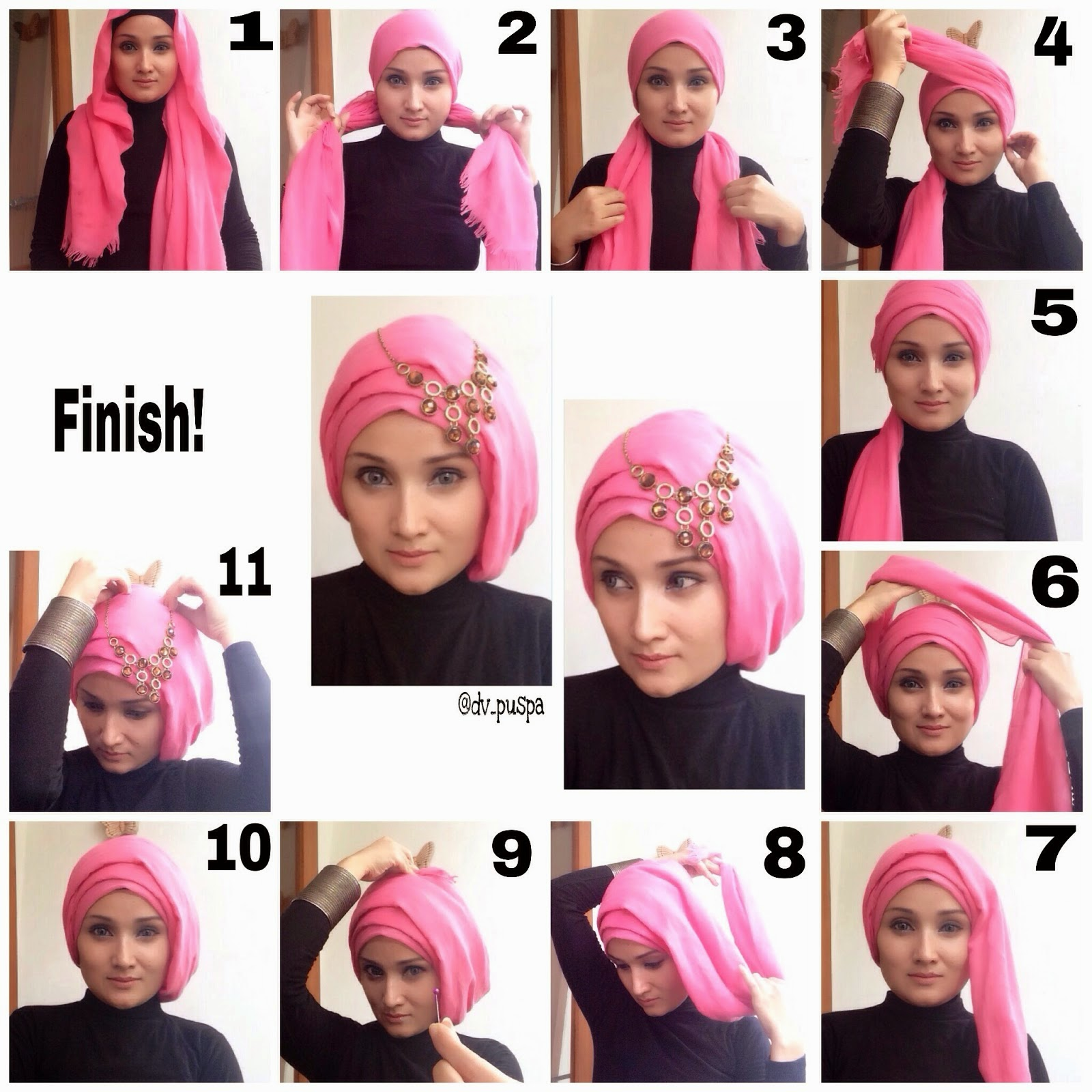 Stylish Easy Hijab Styles 2017 Step by Step Tutorials ...