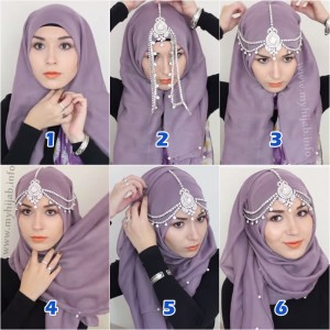 Party or Wedding Hijab Styles Step by Step Tutorials 2017