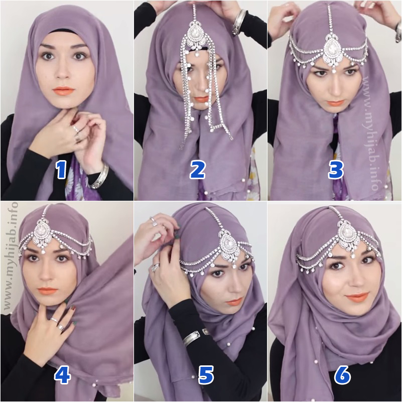 Party or Wedding Hijab Styles Step by Step Tutorials 2018