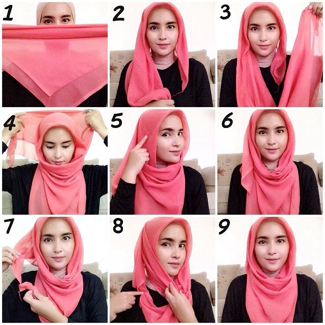 Everyday Hijab Styles Step by Step tutorials 2018