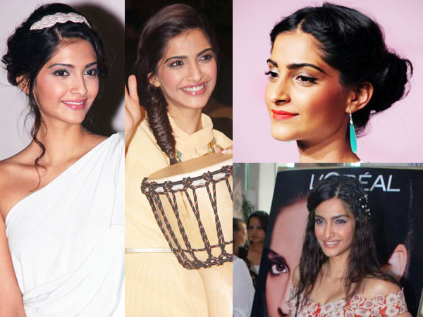 Sonam Kapoor Inspired Bun Hairstyles for Special Ocassions