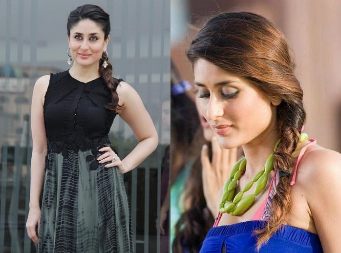 Kareena Kapoor side braid Hairstyles