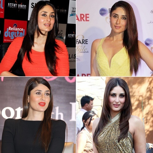 Kareena Kapoor straight Hairstyles