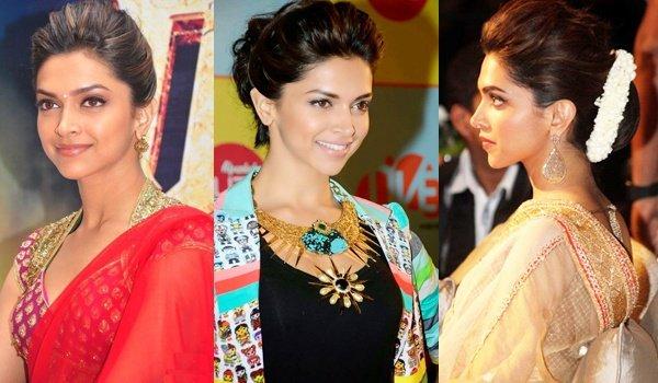 Deepika Padukone Bun Hairstyles