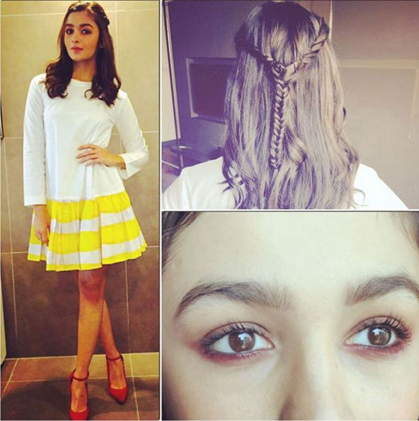Alia Bhatt braided hair