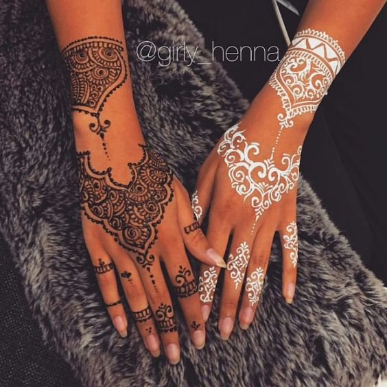 Black Henna: Easy White Henna Designs 2020 For Every Occasion