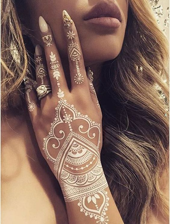 White henna designs for weddings 2017