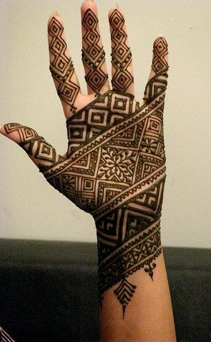 Beautiful Punjabi Mehandi Designs for Palm of Hands