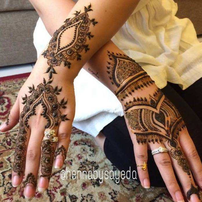 Best Punjabi Henna Designs 2017 for Back of Hands