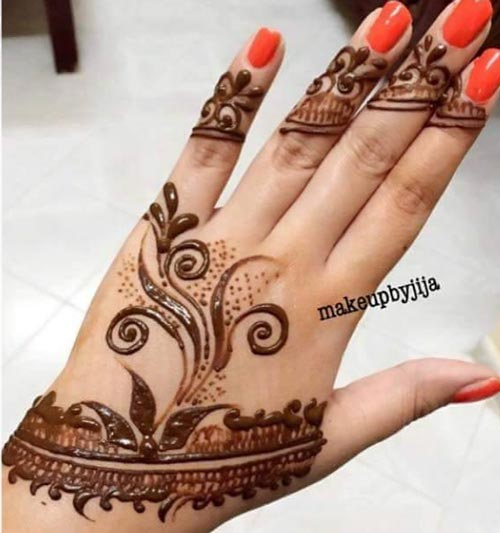 Beautiful Punjabi Mehandi Designs for Back of Hands