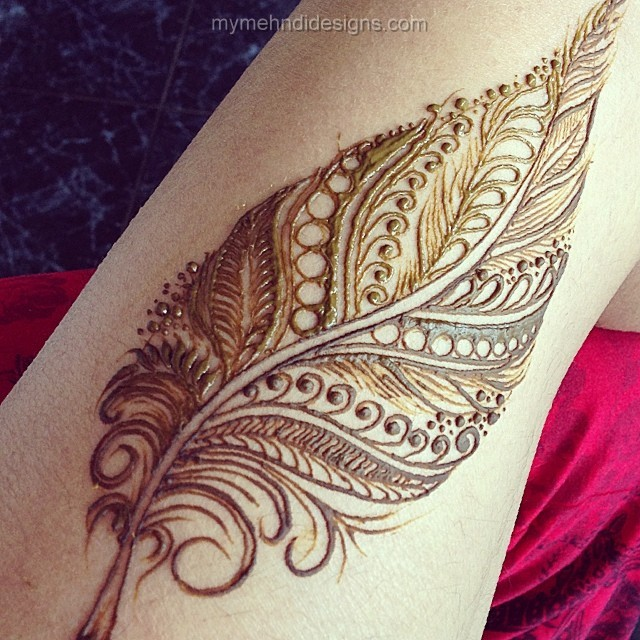 New Punjabi feather Henna Patterns for Arms