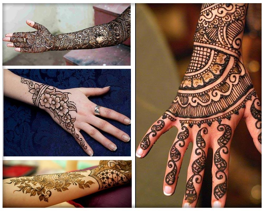 Beautiful Punjabi Mehandi Designs for  Back of Hands