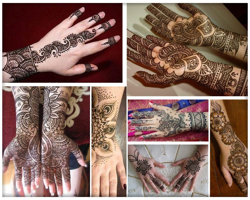 Easy Punjabi Mehndi Designs for Full Hands