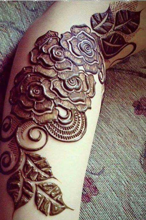 New Punjabi rose Henna Patterns for Arms