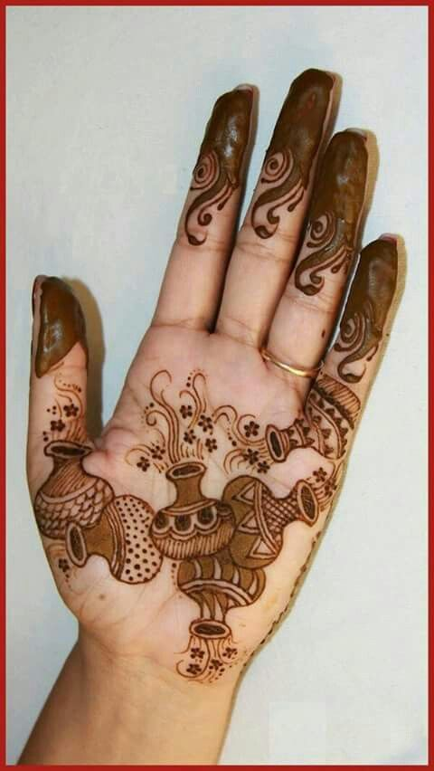 Beautiful Punjabi Mehandi Designs for Palm and Full Hands