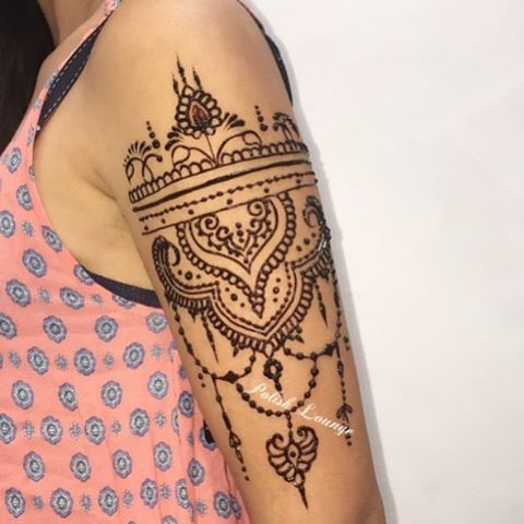 New Punjabi Henna Patterns for upper Arms