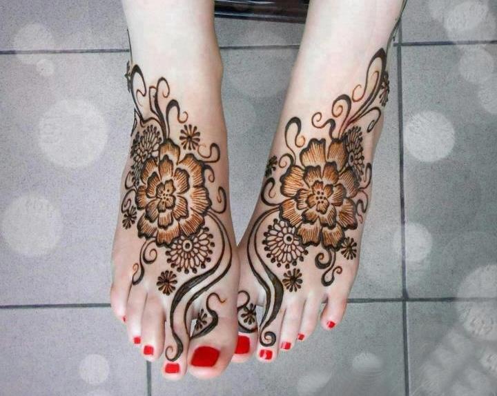 Mehndi Tattoo Designs For Legs : Easy punjabi mehndi designs for girls fashionglint