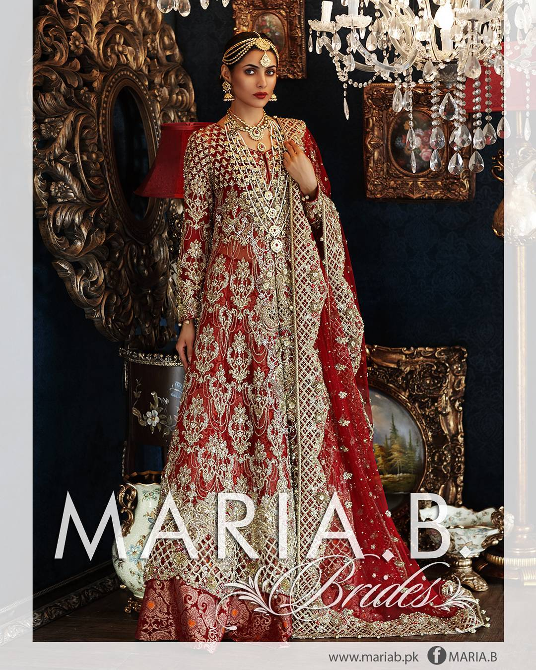 Beautiful Stani Bridal Dresses For Barat Day 2017 2018 10 Fashionglint