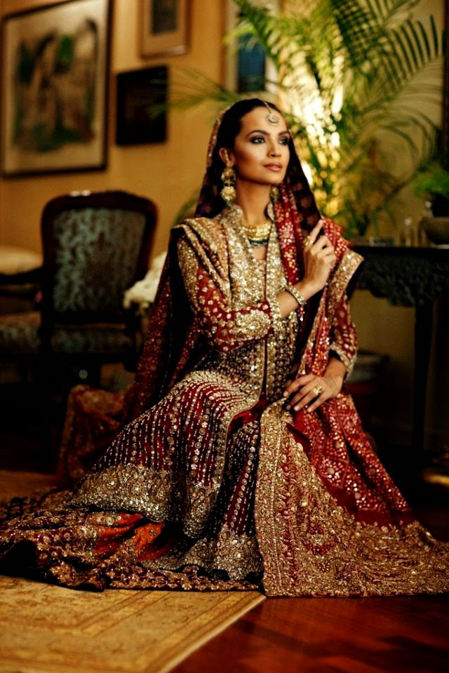 Beautiful Pakistani Bridal Dresses For Barat Day 2017 2018