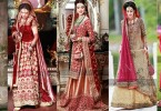 Beautiful Pakistani Bridal Dresses For Barat Day 2017 2018 In Red And Gold Color