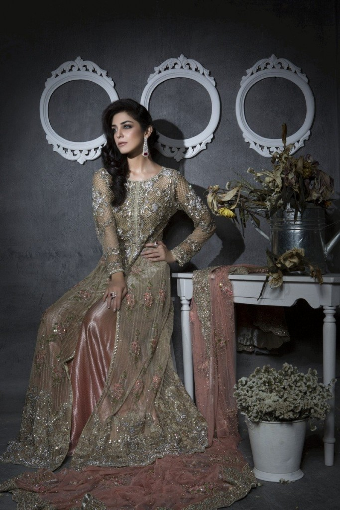 Long Jacket Style Bridal Walima Dresses