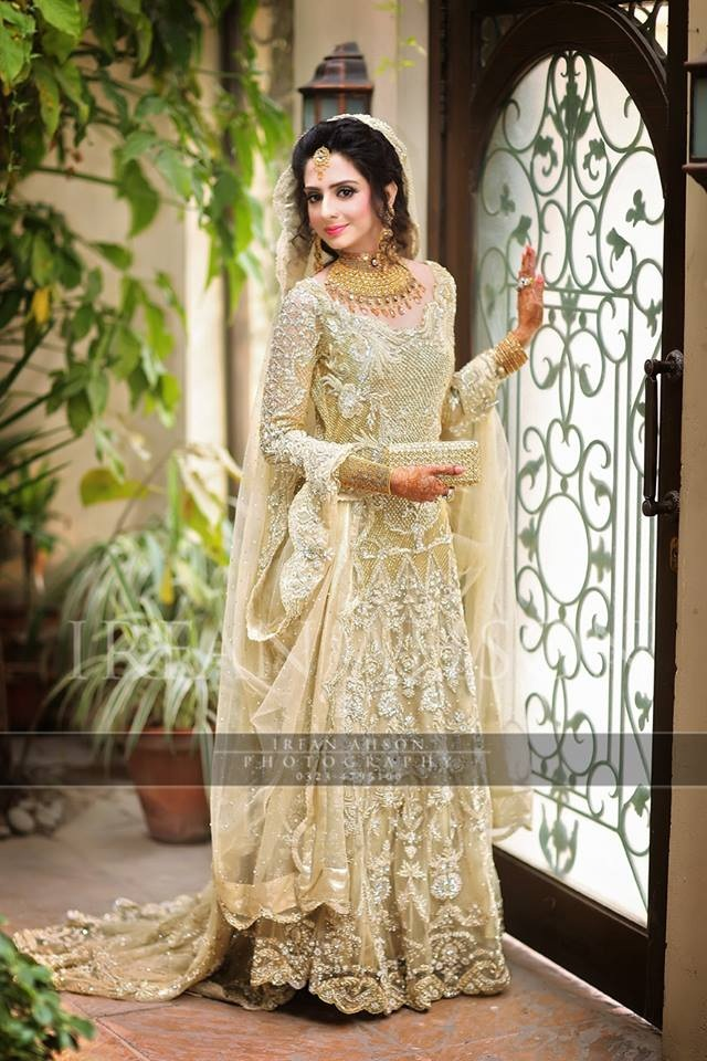 Bridal Trailed Gown for Walima