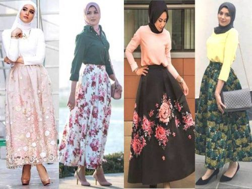 Modern style skirt with hijab