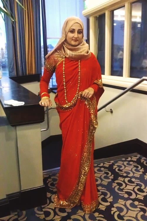 Modest Saree with Hijab