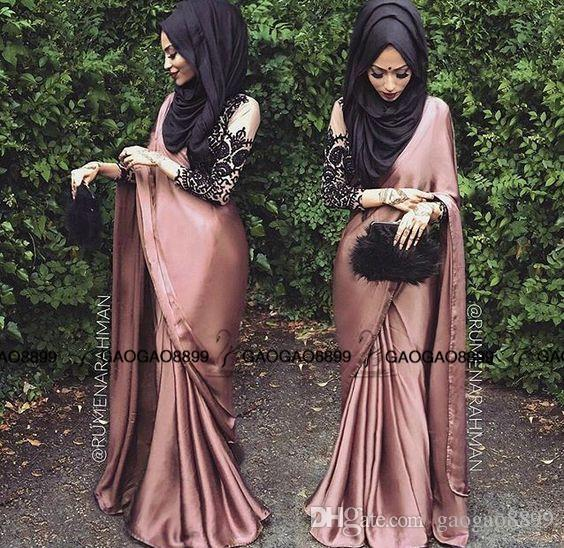 Hijab Fashion with Saree