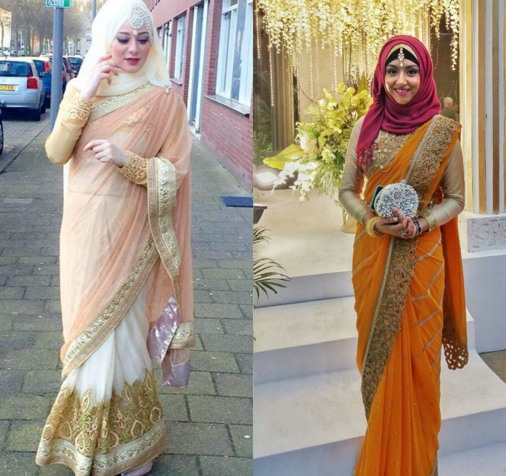 New Hijab Fashion with Saree