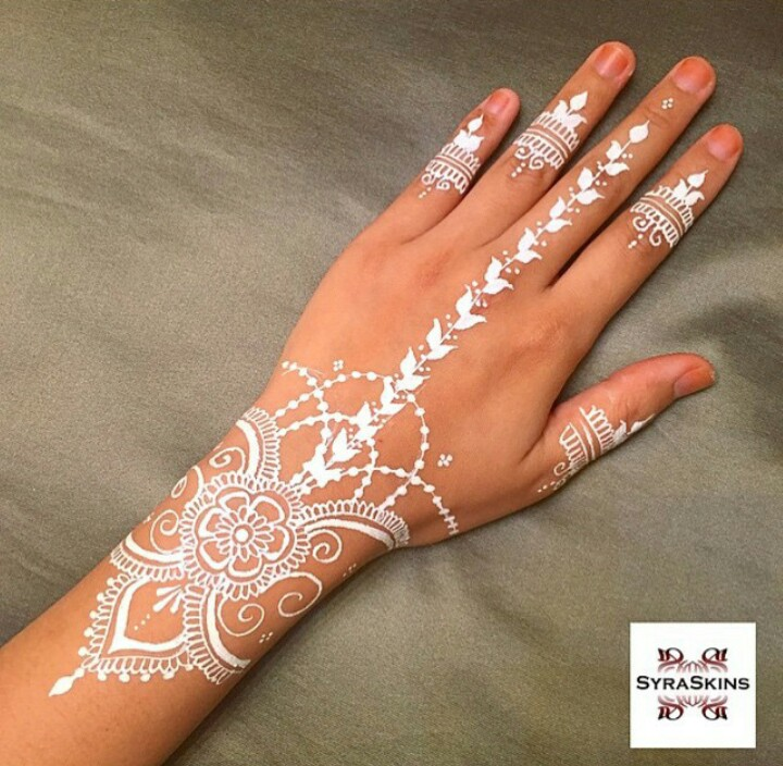 New Style White Henna Design for Eid 2017