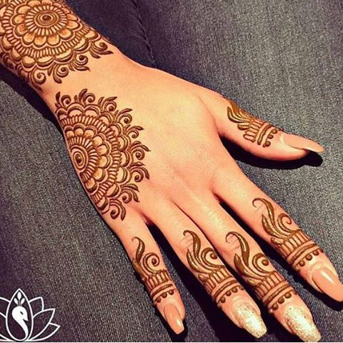 New Style Hand Henna Design for Eid 2017
