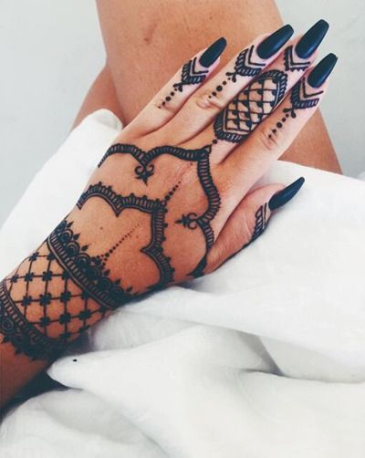 New Style Black Henna Design for Eid 2017