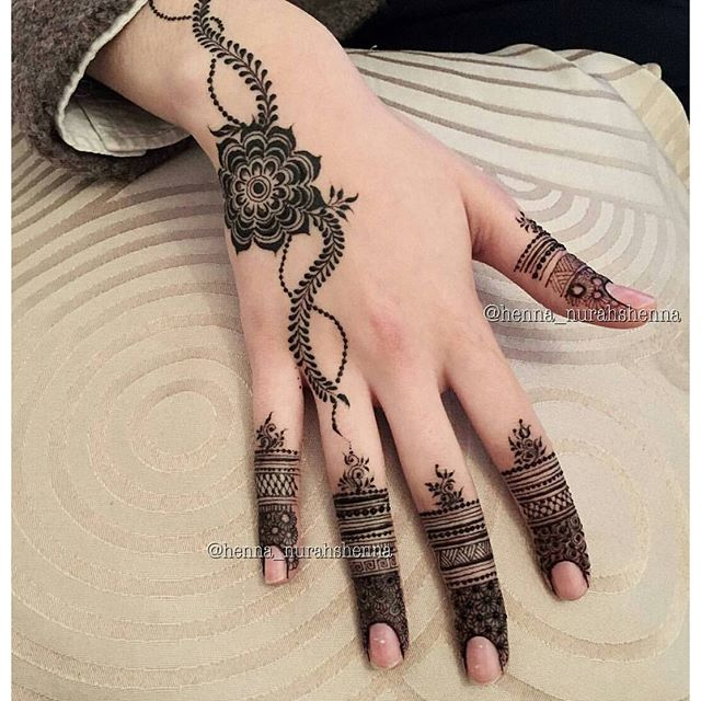 Gorgeous arabic mehndi hand for eid ul adha