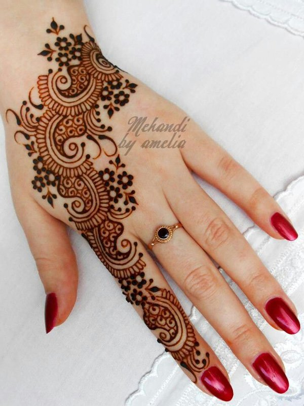 New Style Arabic Henna Design for Eid 2017