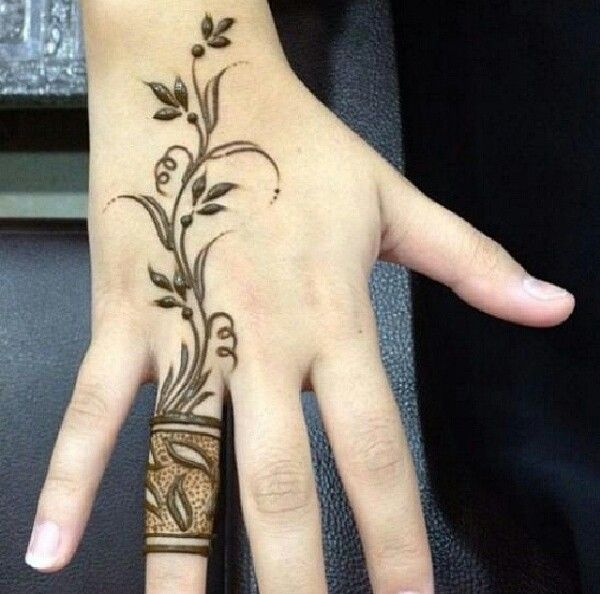 Simple and Small Eid Mehndi Designs