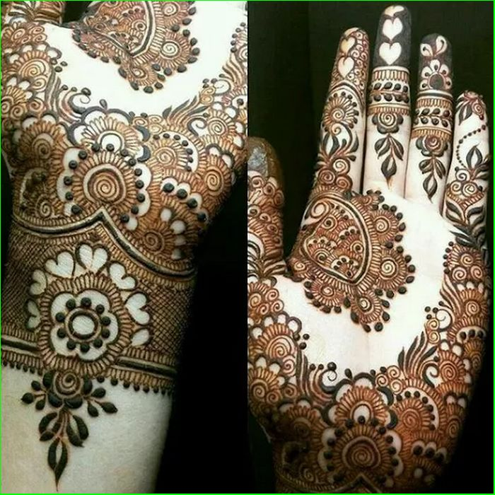 New Style Eid ul Adha Mehndi Design 2017 for Palm of Hand