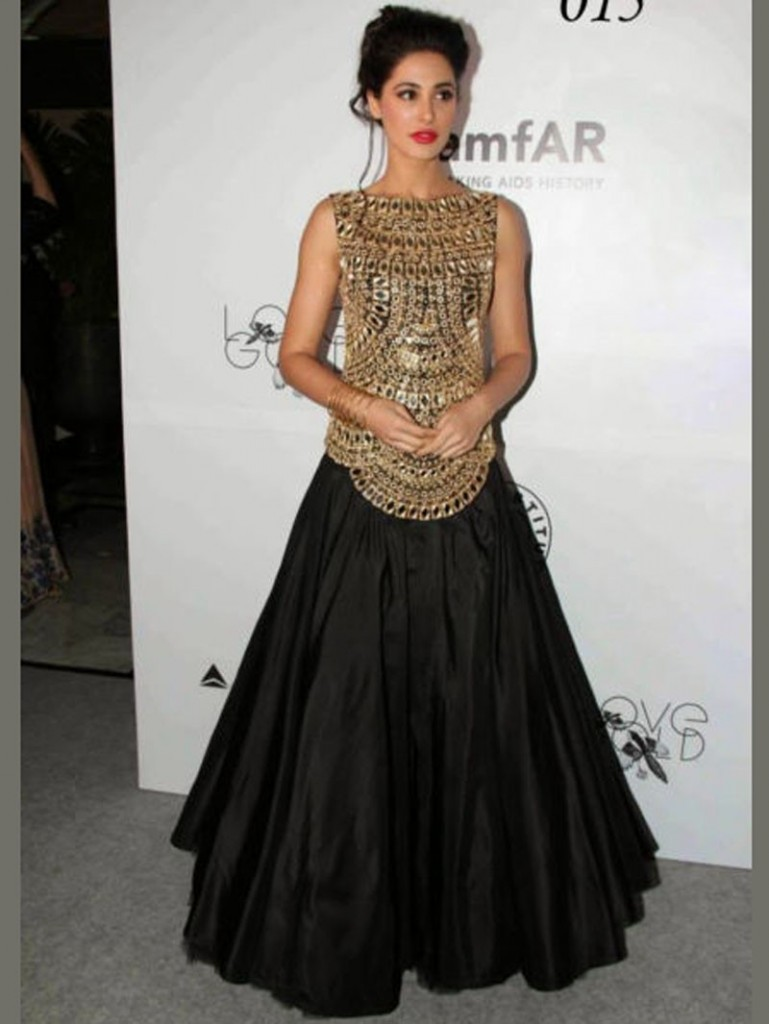 Nargis Fakhari in black Party Wear Black Frock