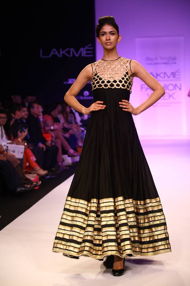 Pakistani and Indian black Party Wear Black Anarkali Frock