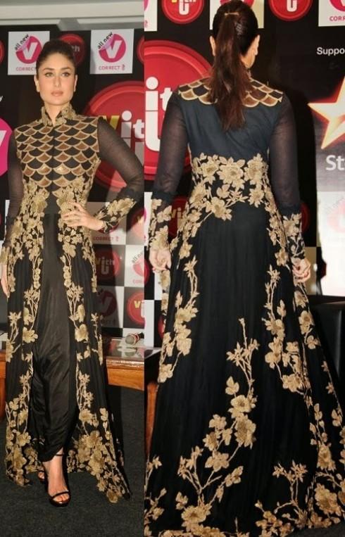 Kareena Kapoor in black Party Wear Black Frock