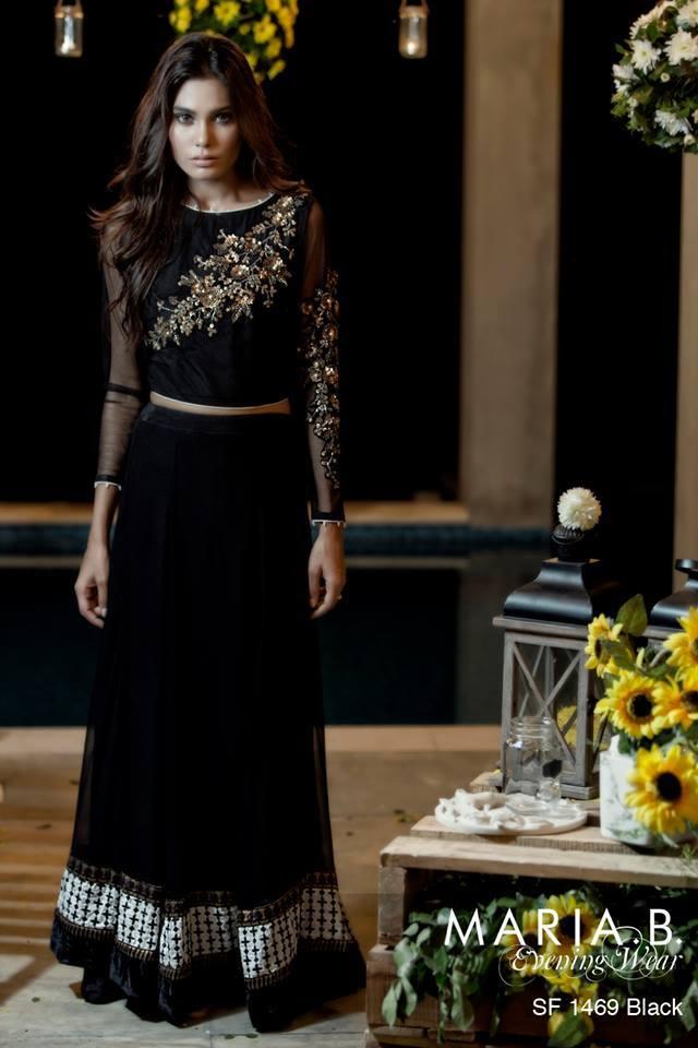 Formal Black Lehnga Choli Design For Indian and Pakistani Girls