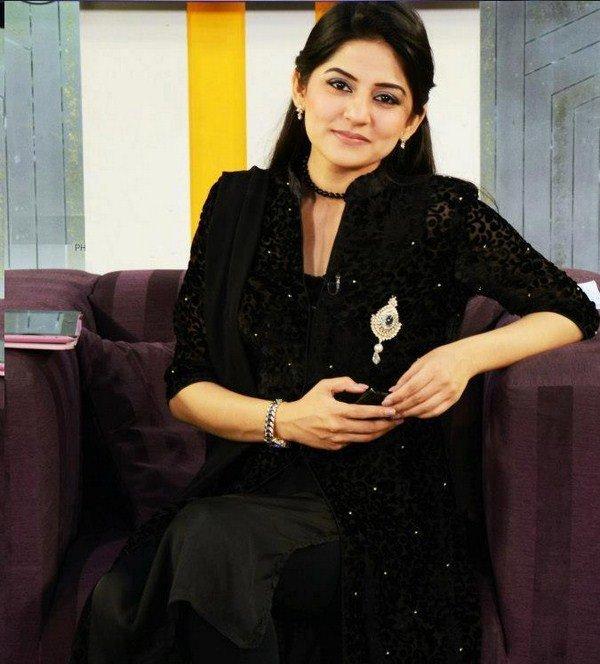 Sana Baloch in Formal Wear Black Shirt for Party
