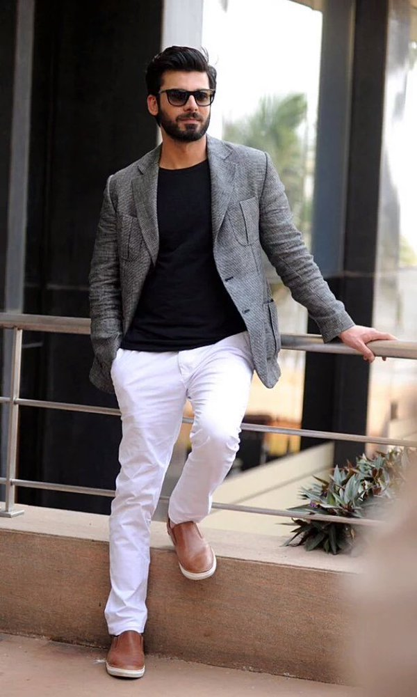 Fawad Khan in Pakistani Street Style Fashion 2017 for Men and boys