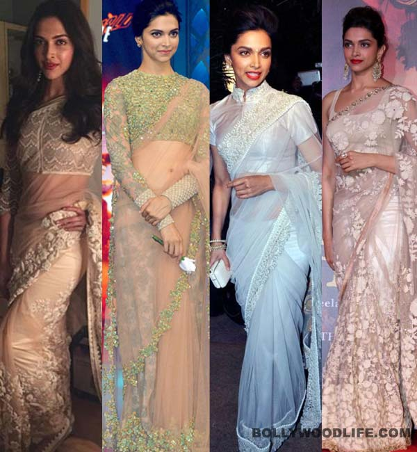 Deepika Padukon in Whit & Ivory Saree Collection 2017 2018