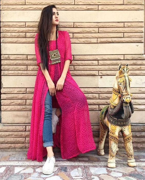 New Trendy Ways to Wear Kurti With Jeans 2018 | FashionGlint