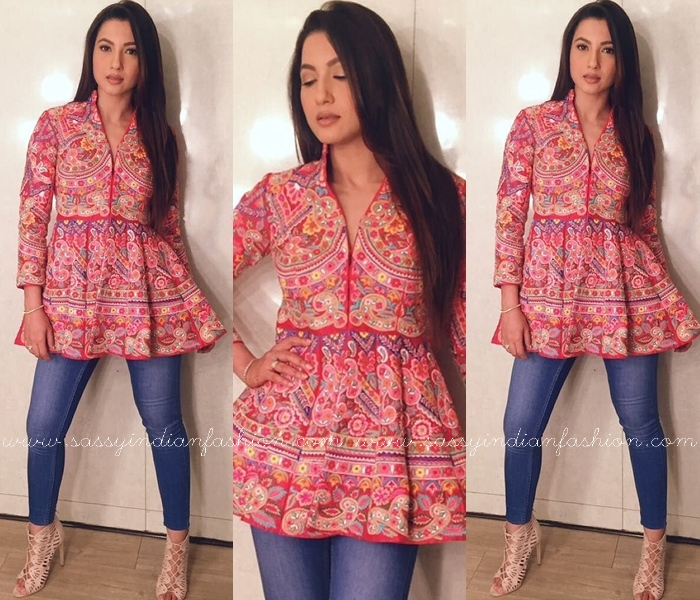 Peplum kurti with Jeans 2017 2018