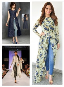 Latest Slit Kurti With Jeans designs 2019
