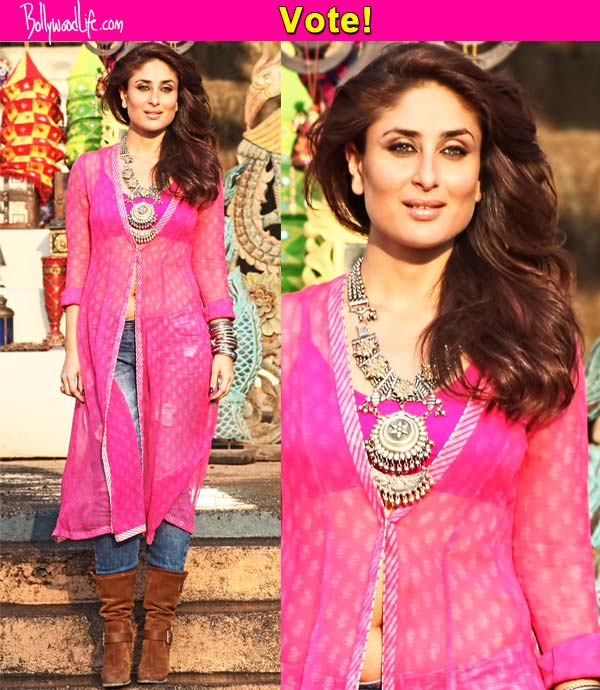 Kareena Kapoor Khan Slit Kurti With Jeans designs 2017 2018
